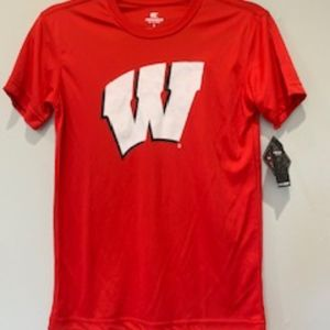 NWT Wisconsin Badgers College Tee Youth S